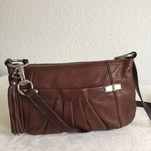 B. Makowaky brown leather crossbody bag